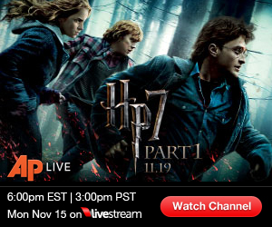 "See ""Harry Potter & Deathly Hallows"" Red Carpet LIVE  6PM ET/3PM PT"