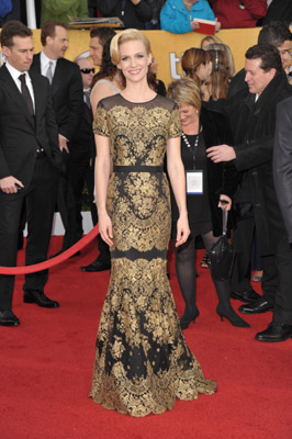 January Jones Is Luminescent at the SAG Awards Courtesy of Chanel