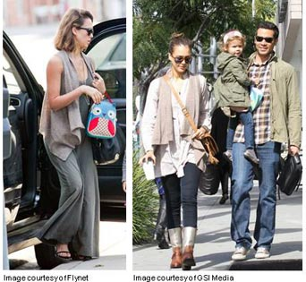 Celebrity Style Spotting: Jessica Alba Can't Get Enough of Michael Stars!